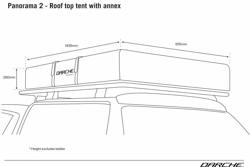 Packed dimensions on roof racks