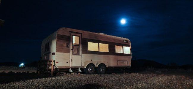 Caravan At Night With Moon